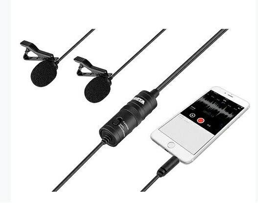 Boya BY-M1DM - mikrofon krawatowy podwójny