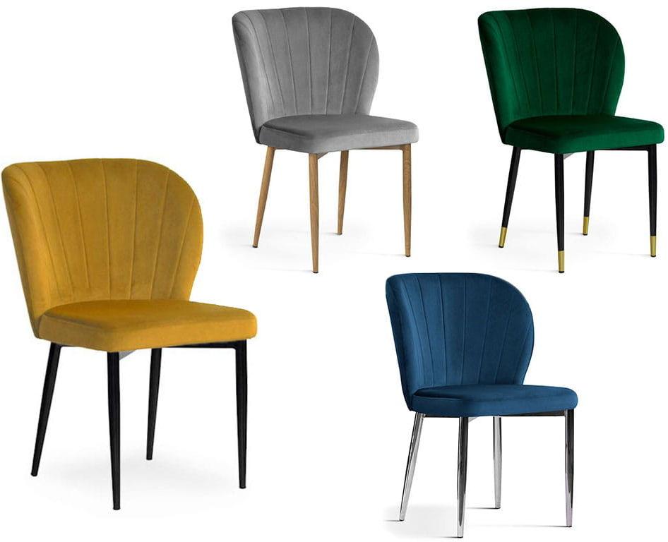 Krzesło tapicerowane SALLY nogi metalowe lub dębowe