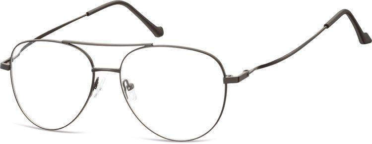 Okulary oprawki Pilotki zerówki metalowe korekcyjne 932F czarne