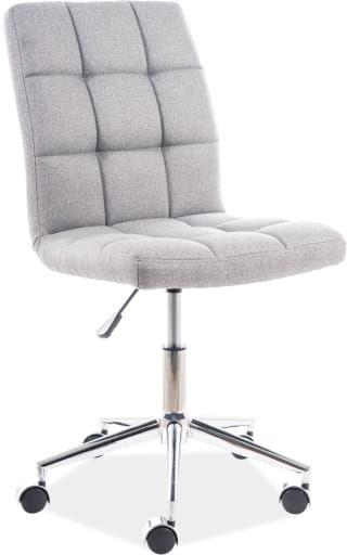 Fotel obrotowy Q-020 szary materiał pikowany