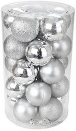 Zestaw kulek o północy; tworzywo sztuczne, srebro, 6 x 6 x 6 cm