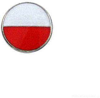 Flaga Polska okrągła przypinka