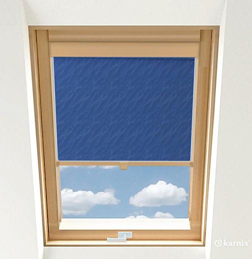 Roleta do okien dachowych - AQUA - Blue / Sosna