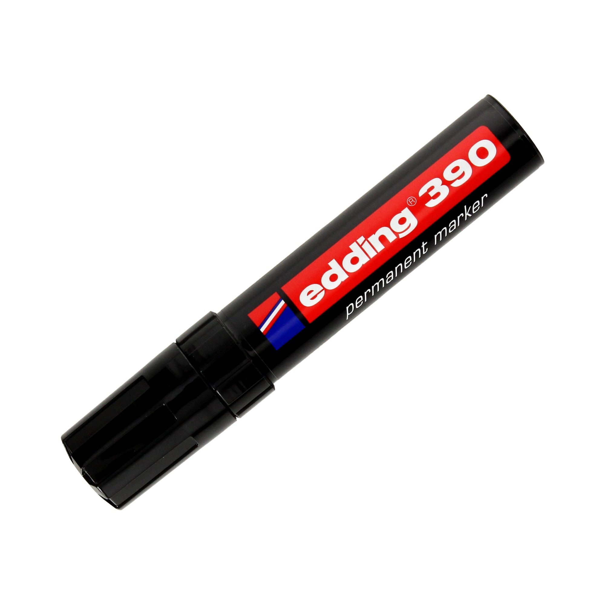 Marker permanentny 4-12mm czarny ścięty Edding 390