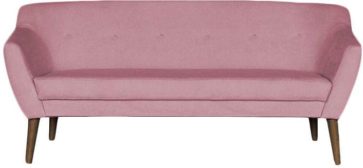 Sofa 3 osobowa tapicerowana BERGAMO różne kolory noga drewniana