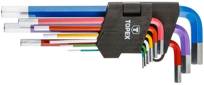 Klucze sześciokątne 1,5-10mm kolorowe (zestaw 9 szt.) 35D966