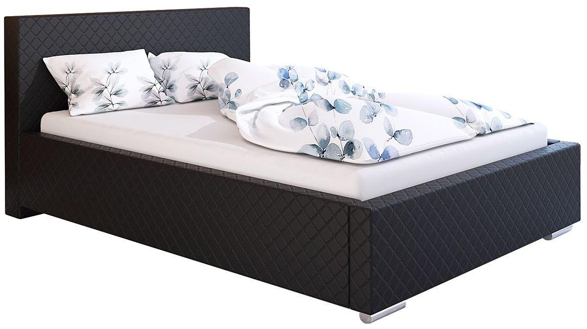 Tapicerowane łóżko dwuosobowe 180x200 Eger 3X - 48 kolorów