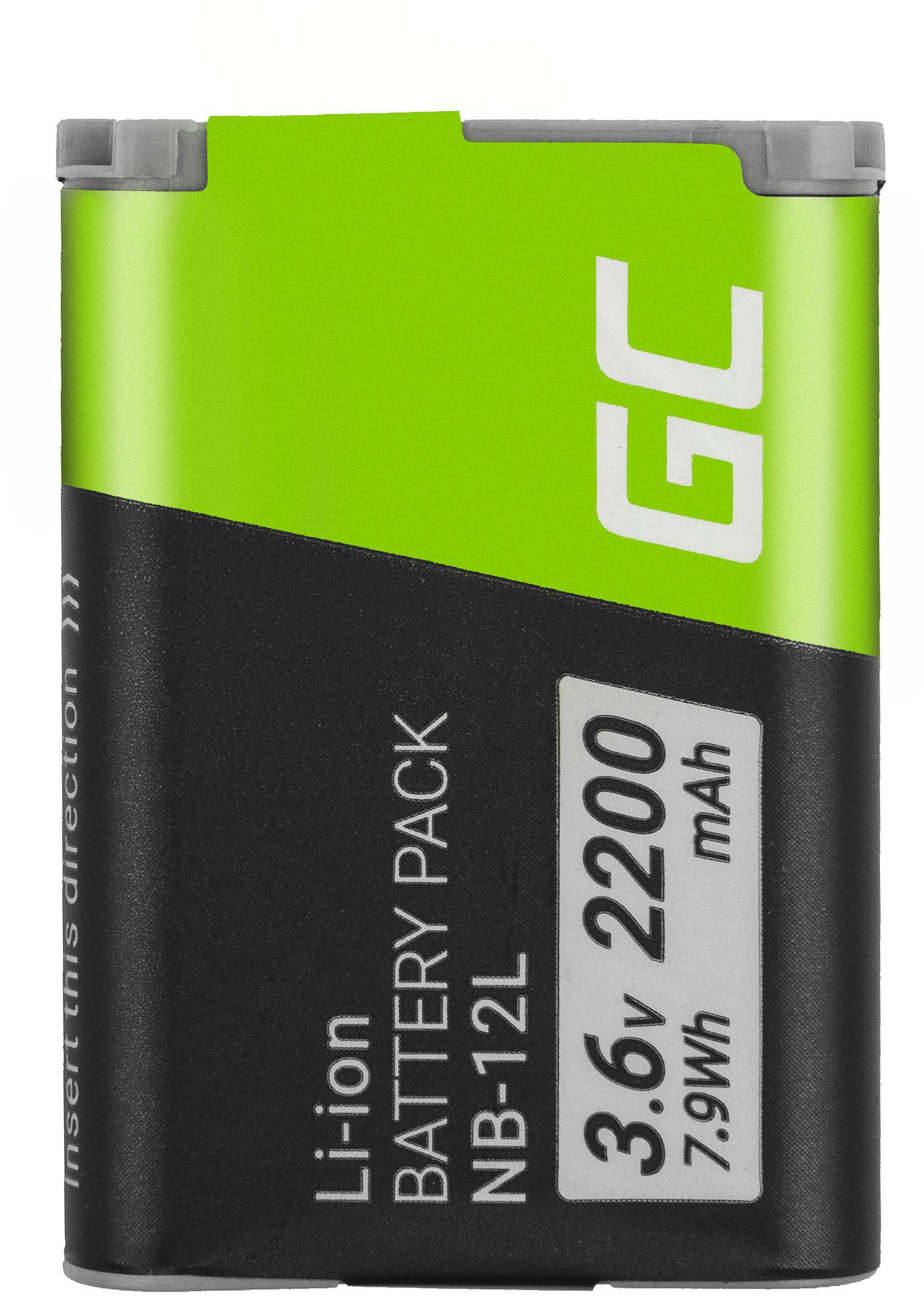 Bateria Green Cell  NB-12L NB12L do Canon Powershot G1 X Mark II, N100, LEGRIA mini X 3.6V 2200mAh