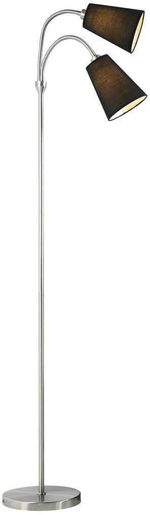 Lampa podłogowa Lelio 75554003 Nordlux czarno-chromowa ruchoma oprawa w nowoczesnym stylu