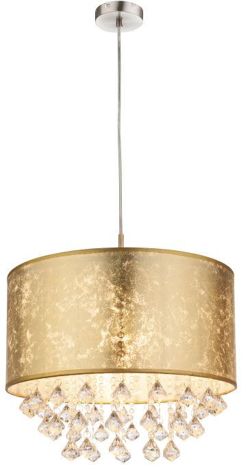 Globo AMY 15187H3 lampa wisząca złoty 1xE27 60W 40cm