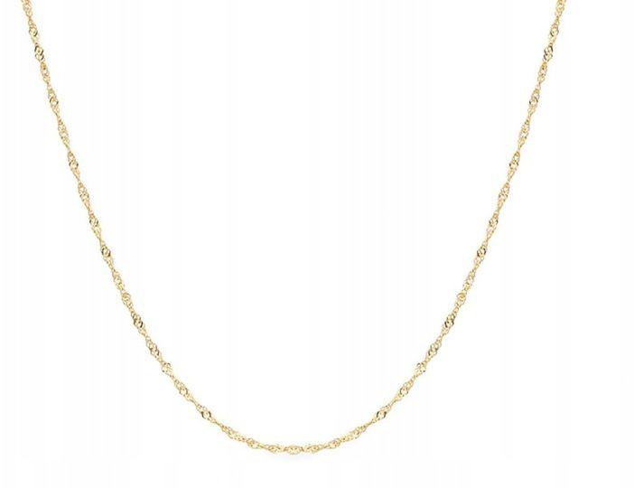 Złoty łańcuszek 585 singapur pełny 50cm