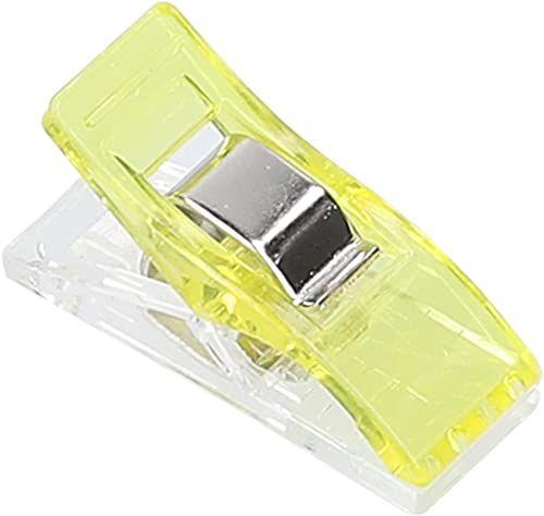 mumbi 30704 klamerki do materiału, tworzywo sztuczne, żółte, 100 sztuk