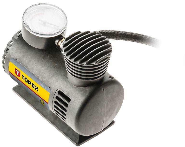 Kompresor akumulatorowy 12V z końcówkami do pompowania kół materacy piłek 97X501