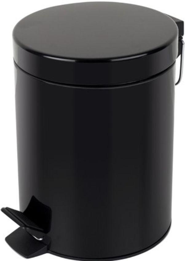 Kosz na śmieci 20 l czarny metalowy Pedalowy kosz na smieci, Kosz metalowy 20 litrow