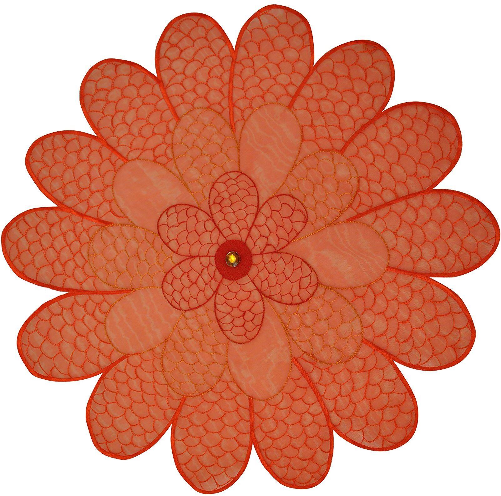 Bellanda Podkładki stołowe, poliamidowe, 50% poliester, pomarańczowe, 30 cm