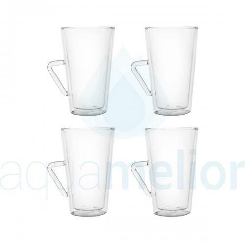 Filter Logic CFL-675B Szklanki termiczne do latte macchiato 370ml 4 szt.