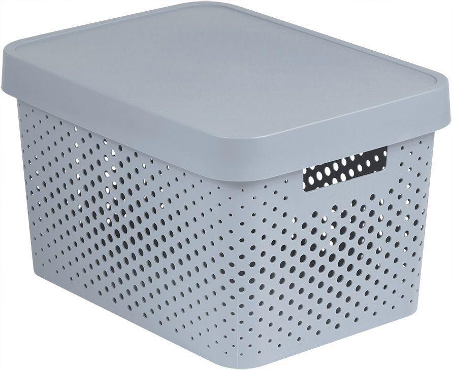 Pudełko do przechowywania z plastikową pokrywką 17L - biała