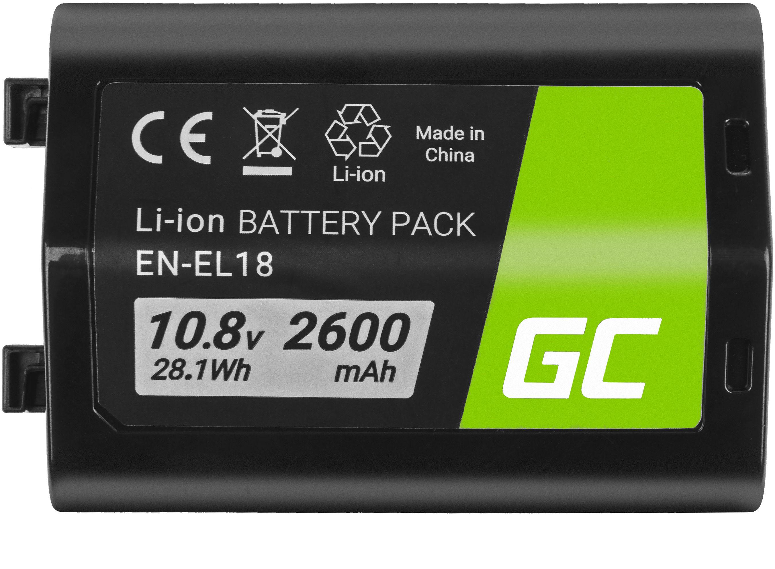 Akumulator Bateria Green Cell  EN-EL18 ENEL18 do Nikon D4 D4S D5 D6 D800 D810 Full Decoded, 10.8V 2600mAh