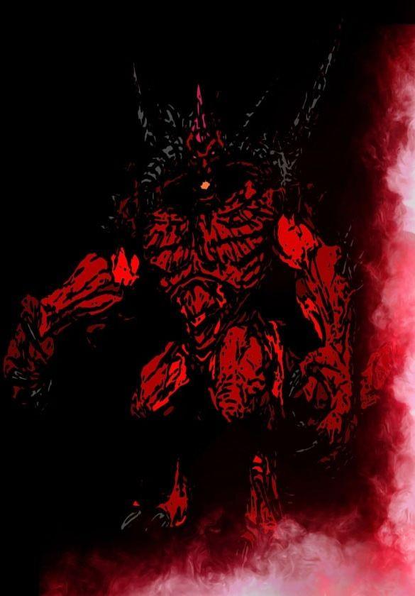 Blizzardverse stencils - diablo, the lord of terror, diablo - plakat wymiar do wyboru: 40x50 cm
