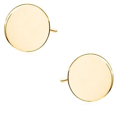 Delikatne pozłacane srebrne gładkie kolczyki celebrytka pełne kółko kółeczko ring coin srebro 925 Z1680EG