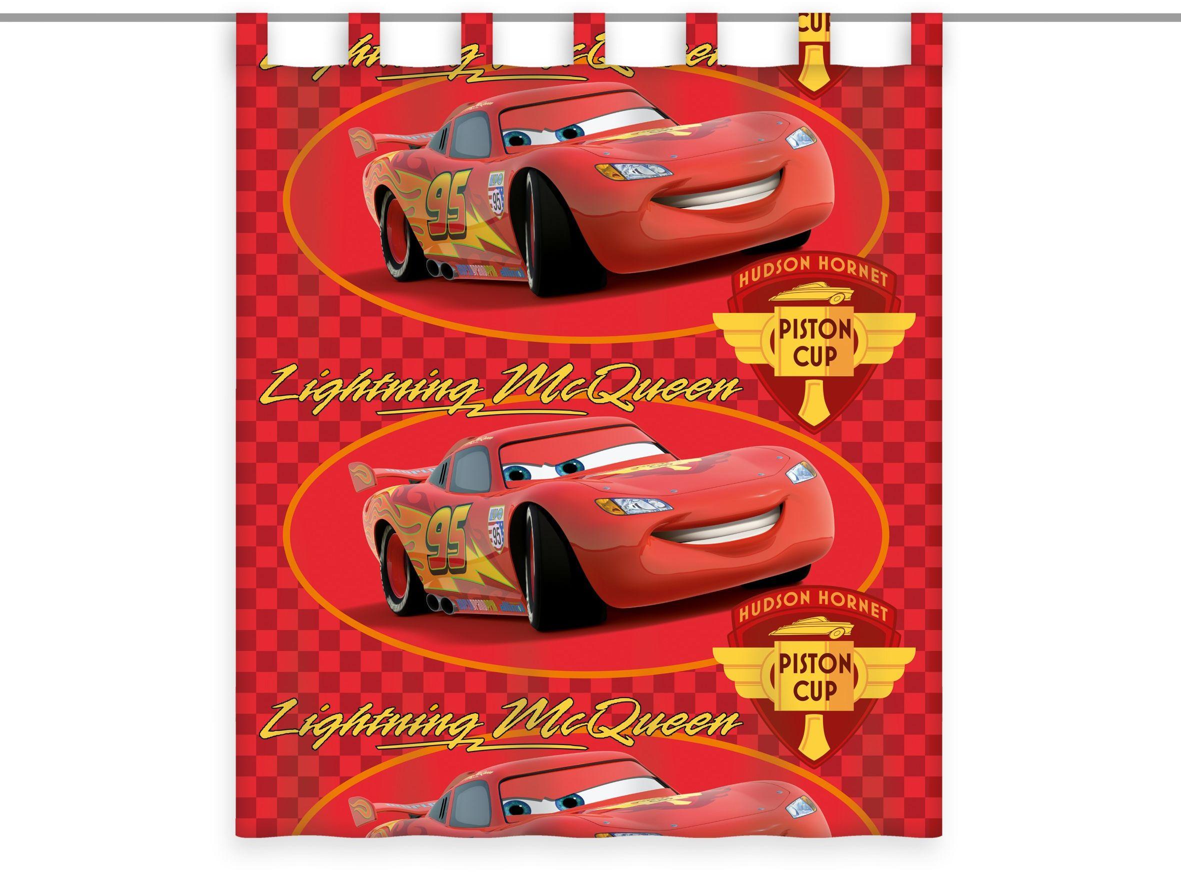 Herding Disney''s Cars zasłona z poliestru, wielokolorowa, 160 x 140 cm