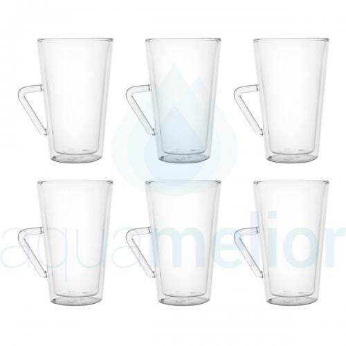 Filter Logic CFL-675B Szklanki termiczne do latte macchiato 370ml 6 szt.