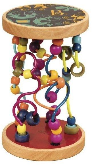 B.toys drewniane paciorki na zakręconych drążkach