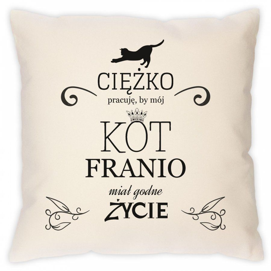 Poduszka personalizowana z nadrukiem DLA KOTA