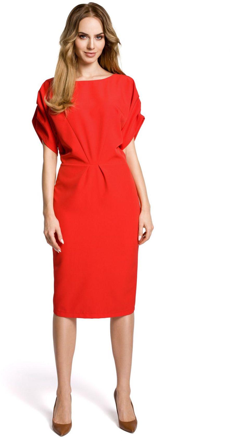 M364 Sukienka czerwona
