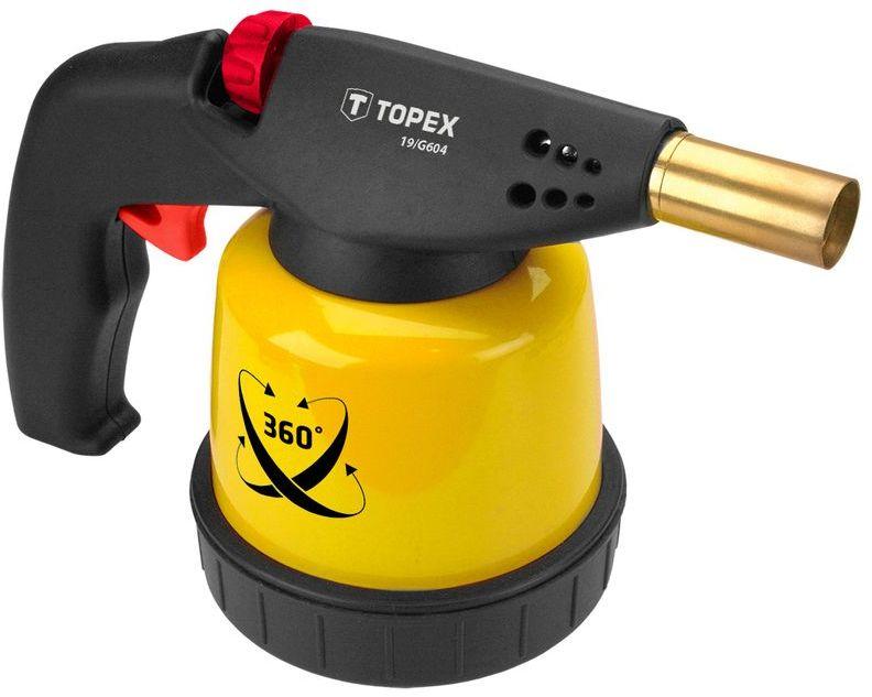 Lampa lutownicza gazowa 1.9 kW na naboje 190 g zapłon piezo do pracy w każdej pozycji 44E143