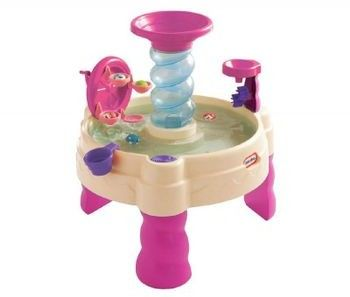 Little Tikes - Wodny stół - Spiralny Aquapark różowy 173769
