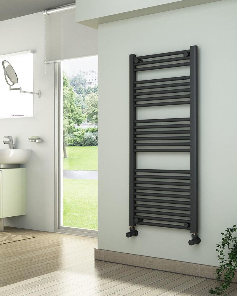 Grzejniki łazienkowe drabinkowe antracyt - 1200/600 mm