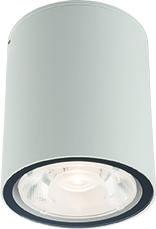 Plafon zewnętrzny Edesa LED M 9108 Nowodvorski Lighting biała oprawa w kształcie tuby