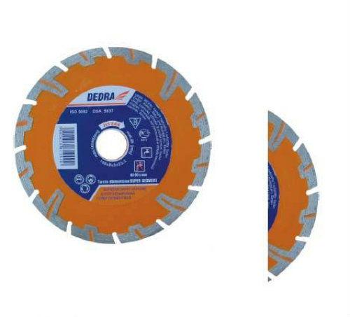 Tarcza diamentowa SUPER SEGMENT do cięcia betonu zbrojonego, betonu, piaskowca 125/22,2mm DEDRA H1243