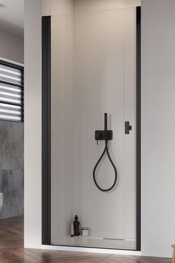 Radaway Nes Black DWJ I Drzwi wnękowe 90 cm lewe, szkło przejrzyste, wys. 200 cm. 10026090-54-01L