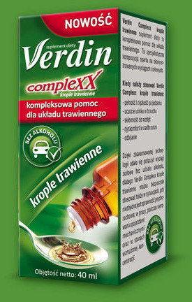 Verdin Complexx Suplement diety krople trawienne bez alkoholu 40 ml