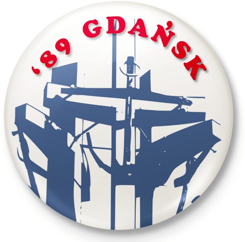 Button przypinka, pin ''89 Gdańsk