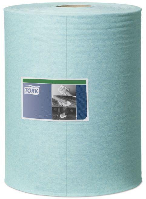 Czyściwo włókninowe o niskiej pylności Tork w dużej roli, turkusowe