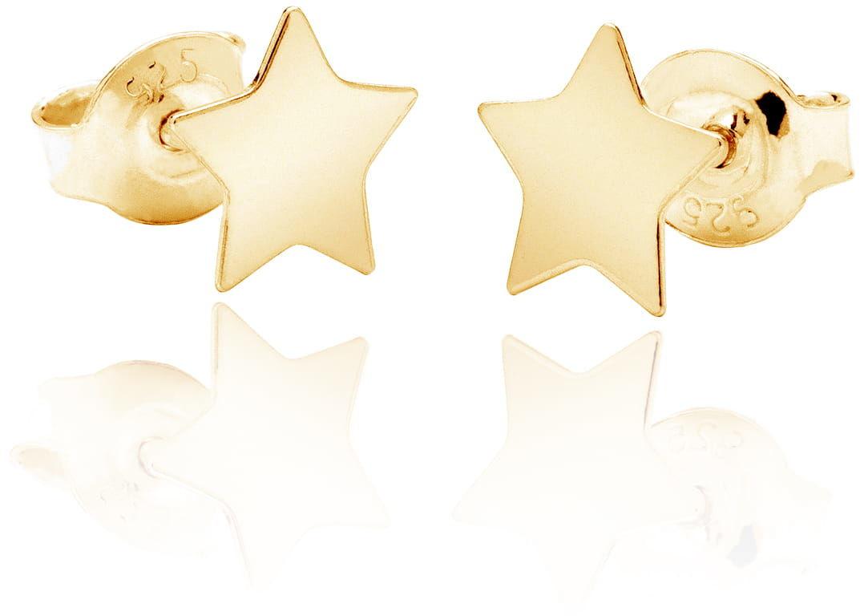 Kolczyki gwiazdki sztyft