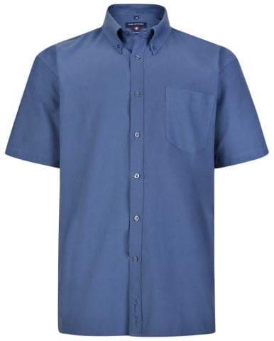 KAM 663A S/S Koszula Męska Granatowa Duże Rozmiary