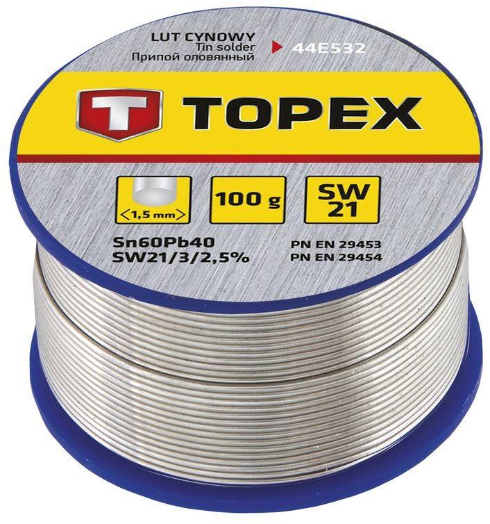 Lut cynowy 60% Sn drut 1,5mm 100g 44E532