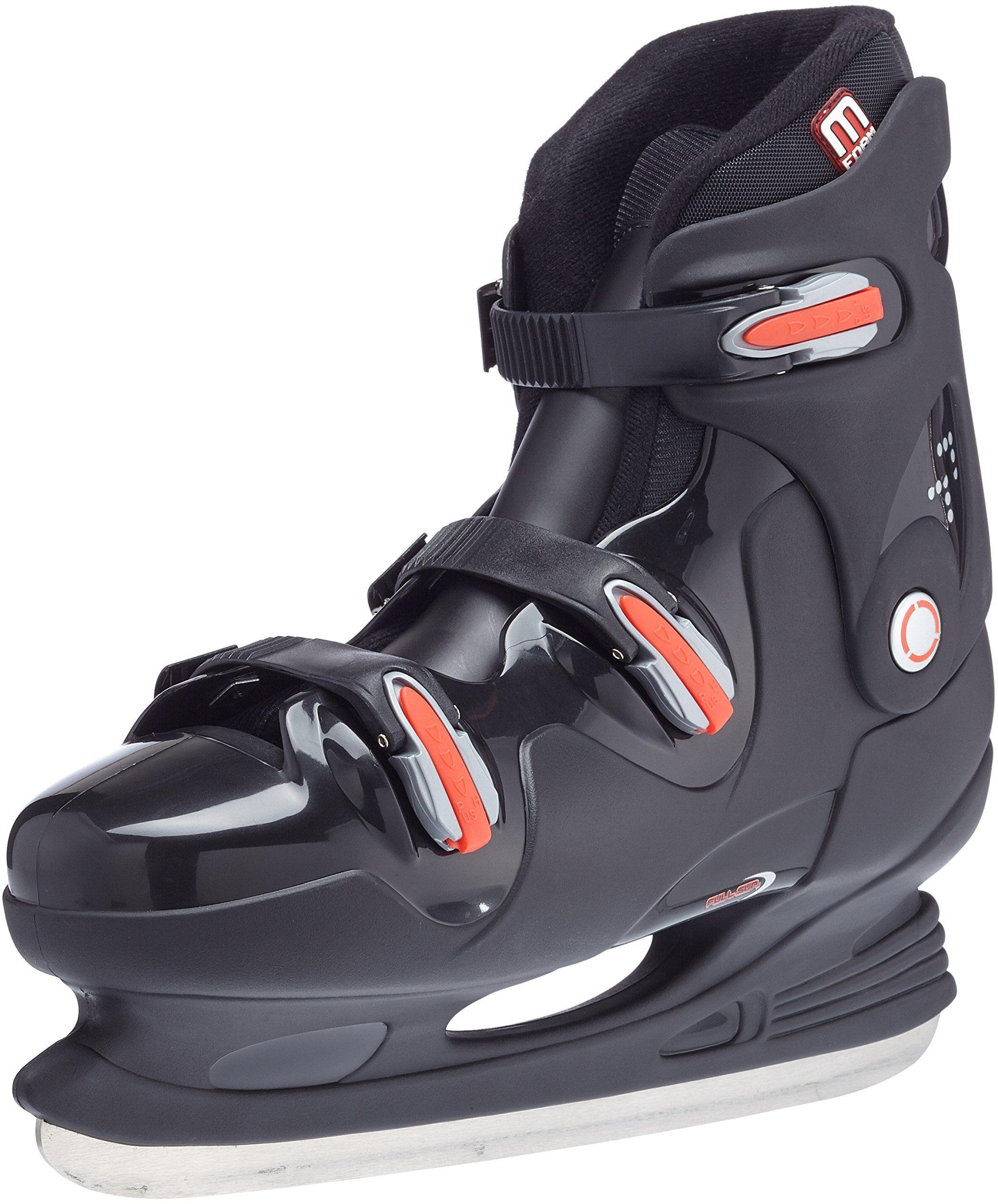 Nijdam Męskie łyżwy do hokeja na lodzie, czarne/czerwone, 43, 1010689