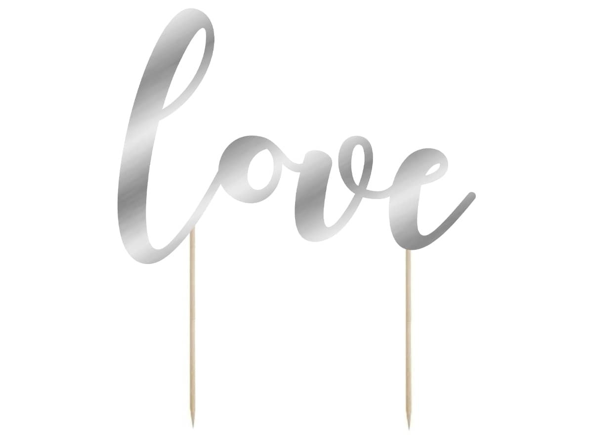 Topper na tort Love - 14 cm