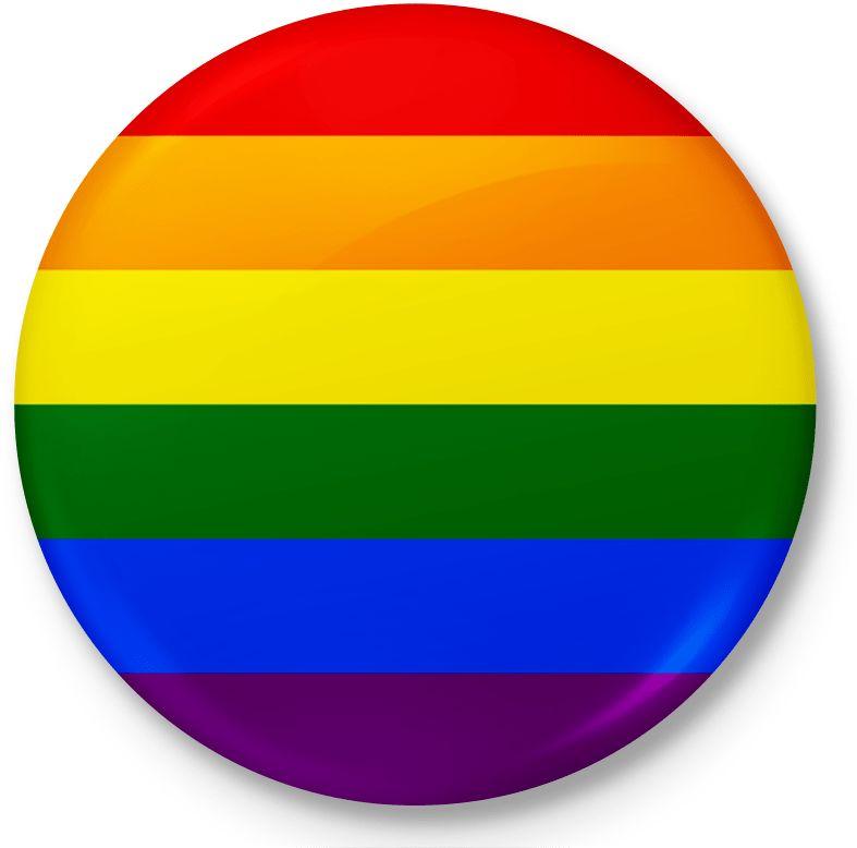 Button przypinka, pin flaga LGBT