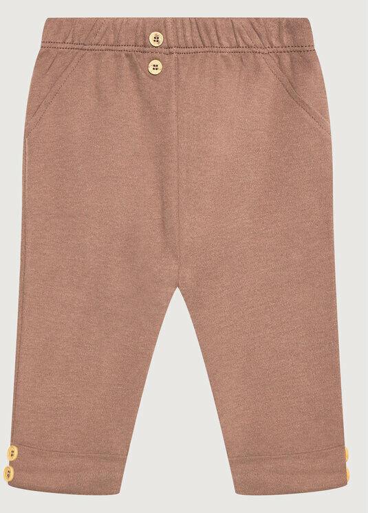 Spodnie materiałowe 3AOUMF270 Brązowy Regular Fit