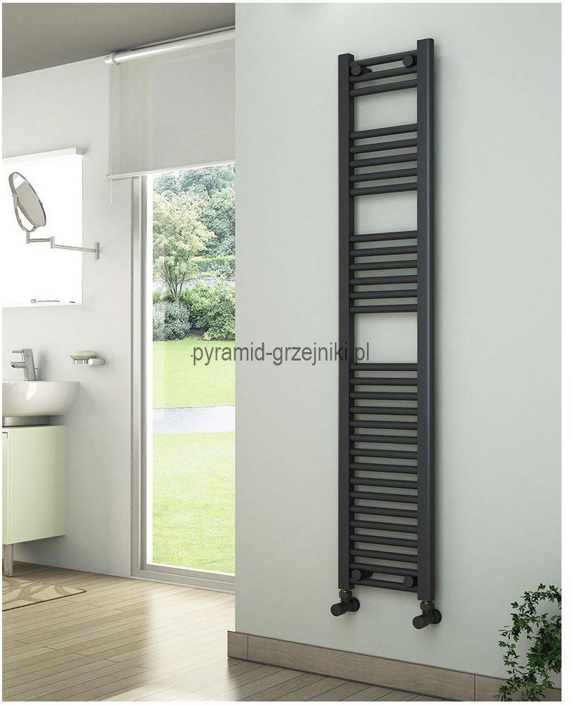Grzejniki łazienkowe drabinkowe antracyt - 300/1500 mm