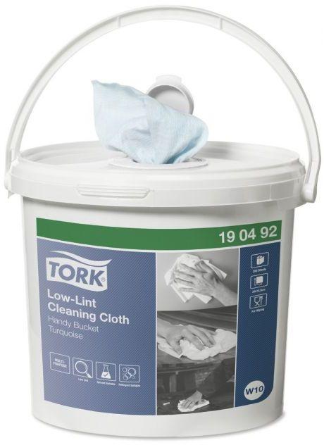 Czyściwo włókninowe o niskiej pylności Tork w wiadrze Handy Bucket