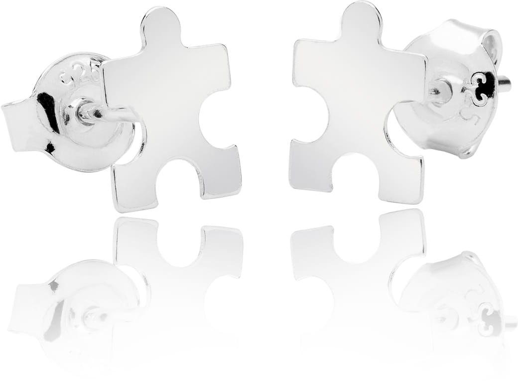 Kolczyki puzzle sztyft