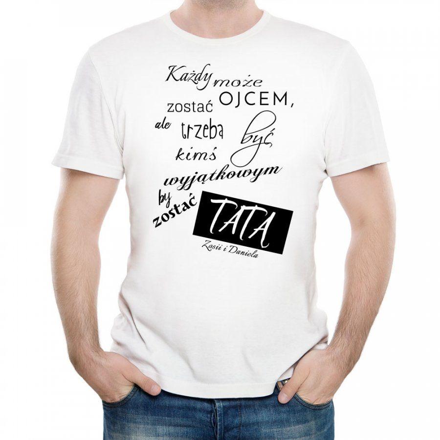 Koszulka Męska z Twoim Nadrukiem PREZENT DLA TATY
