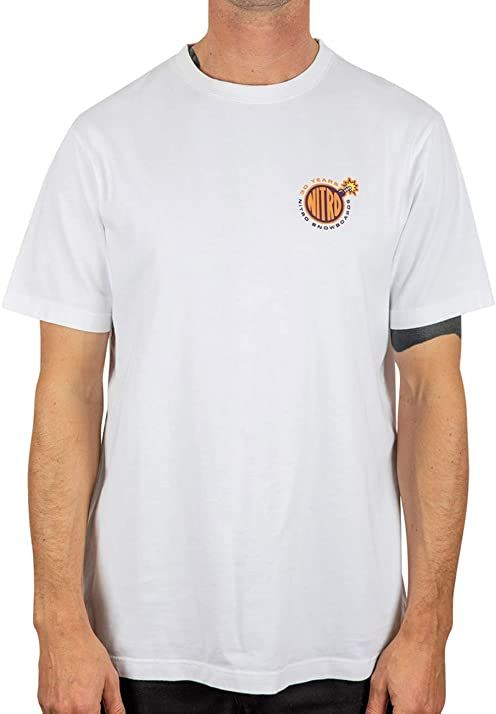 Nitro Dorośli 1990 TEE''20 T-shirt, biały, S